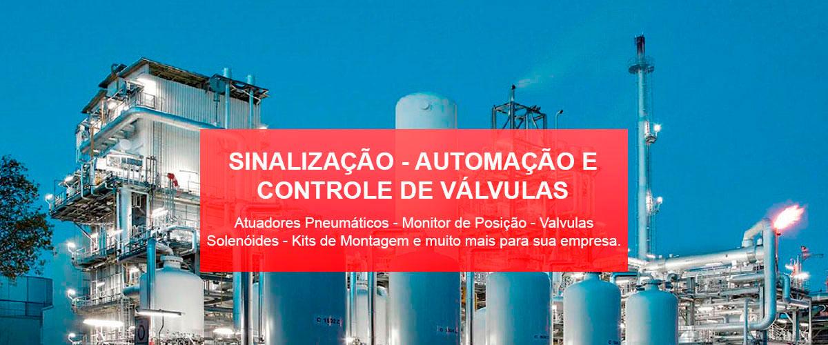 Atuadores Pneumáticos - Monitor de Posição - Valvulas Solenóides - Kits de Montagem e muito mais para sua empresa.